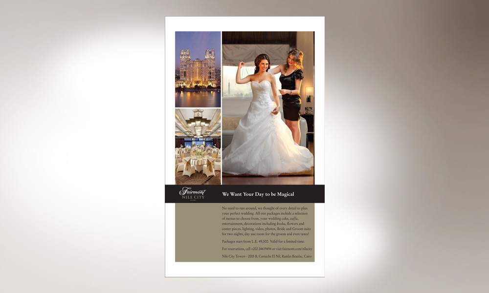 Fairmont Nile City, Wedding Magazine AD